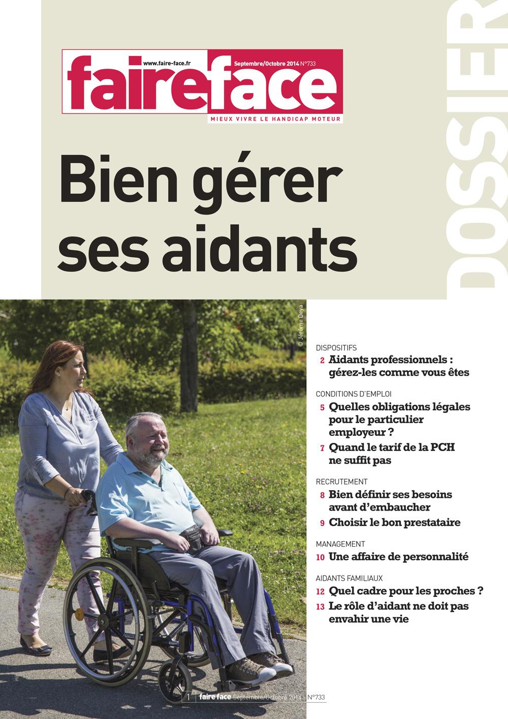 Dossier N°733 (septembre octobre 2014) - Bien gérer ses aidants