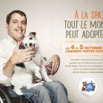Campagne SPA visuel personne en fauteuil roulant