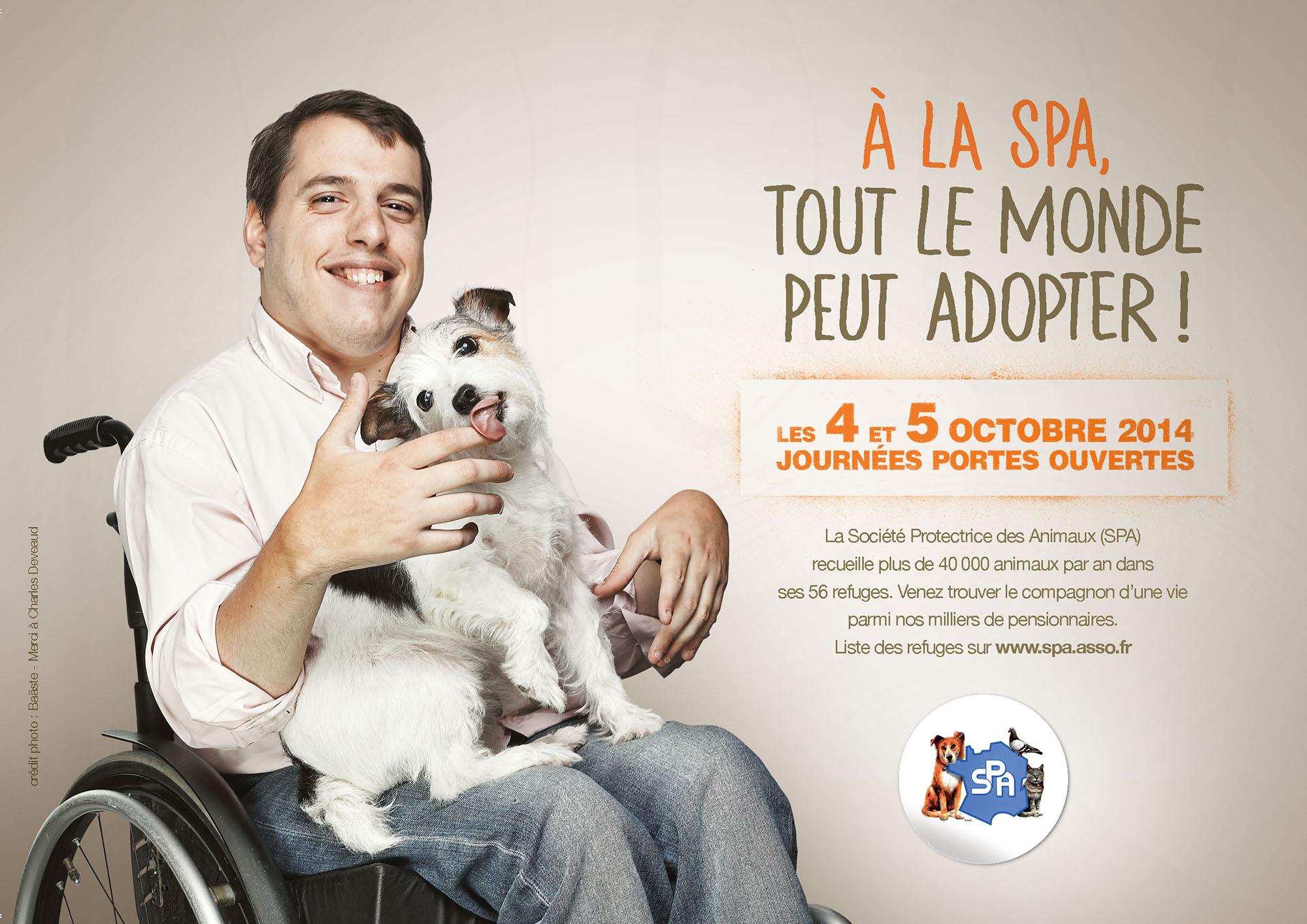 Journées portes ouvertes adoptions : la SPA n'oublie pas les personnes handicapées
