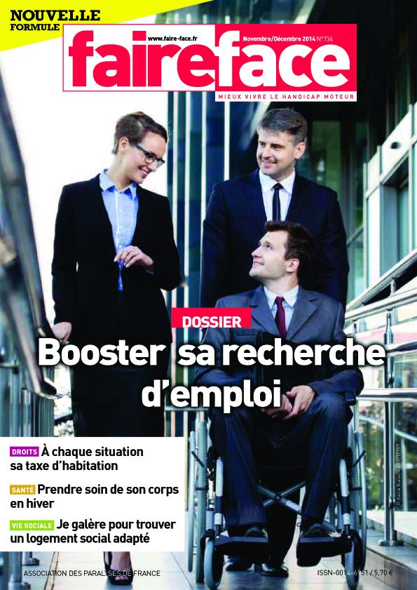 Couverture Booster sa recherche d'emploi Faire Face N°734 (Novembre-décembre 2014)