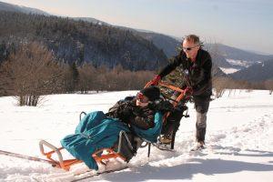Refuge du Sotre randonnee en fauteuil ski