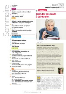 Sommaire magazine Faire Face janv-fevr 2015