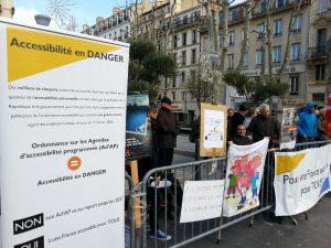 manifestation a Marseille contre ordonnance accessibilite 10 decembre 2014