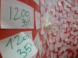 manifestation des professionnels de l'aide a domicile panneau 1200 euros pour 35h de travail