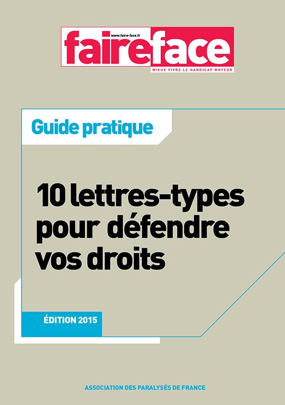 Couverture Guide pratique numérique Faire Face 10 lettres-types pour défendre vos droits