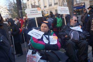 manifestant le 11 fevrier 2015 a Paris