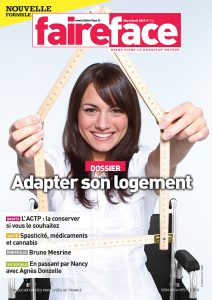 Couverture adapter son logement magazine Faire Face Mars/Avril 2015 N°736