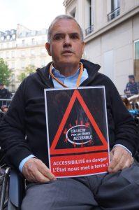Alain Rochon, président de l'Association des paralysés de France. © V.DC