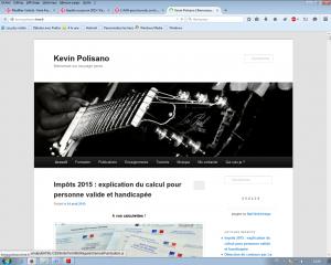 Copie ecran blog Kevin Polisano
