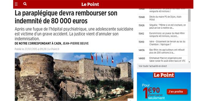 Décision de justice : une paraplégique doit rembourser ses indemnités de 80 000 euros