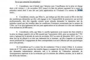 Le TA a estimé à 20 000 € le préjudice moral d'une enfant mal prise en charge.