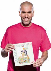 Zinédine Zidane, parrain d'honneur de l'association ELA signe la préface du livre © Association ELA