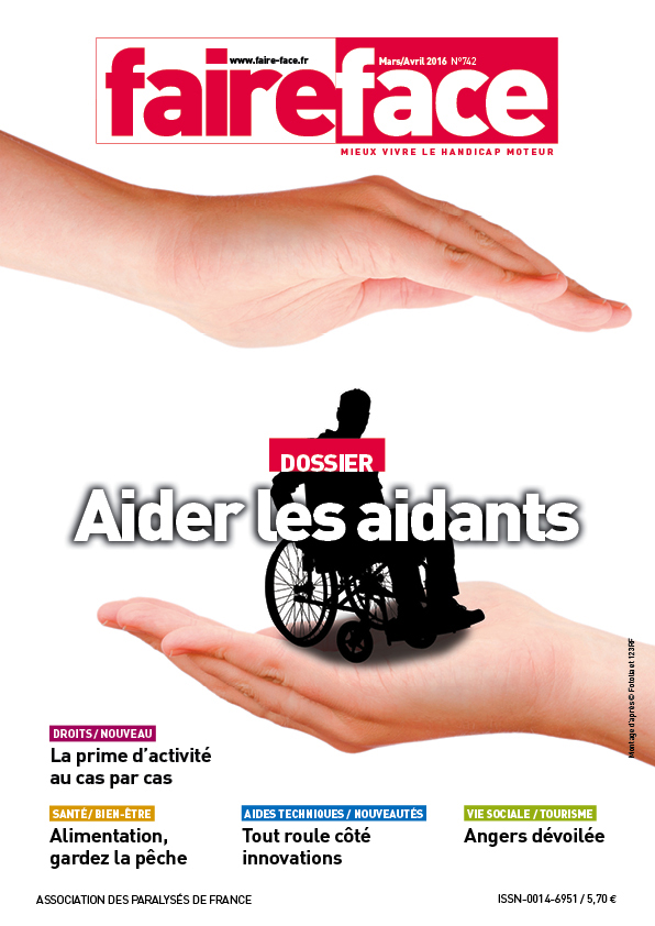 Couverture Aider les aidants Magazine Faire Face mars avril 2016 (N°742)