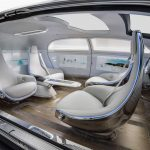 Interieur de la Mercedes F015, un  véhicule autonome © Mercedes