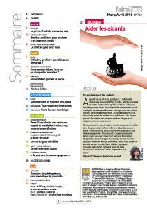 Sommaire Magazine Faire Face mars avril 2016 (N°742)