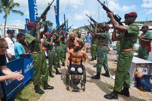 Arrivée sous les honneurs à Antigua © Ben Duffy