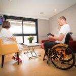 Avec 80 m2, l'appartement d'évaluation domotique (AED) représente une solution pertinente et évolutive pour bien préparer le retour au domicile des personnes en perte d'autonomie. © DR