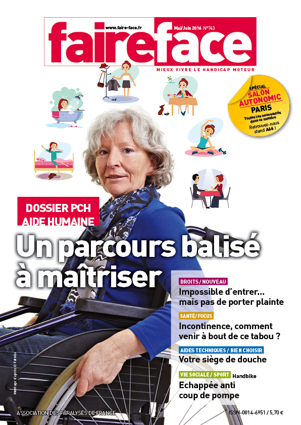Couverture PCH aide humaine magazine Faire Face mai juin 2016-N 743