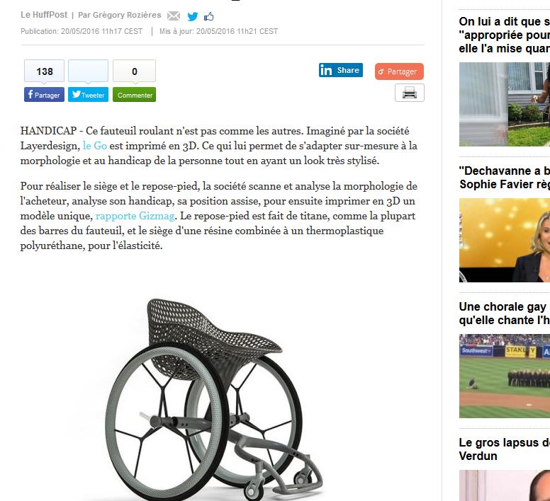 l impression 3d d un fauteuil roulant sur mesure c est possible faire face toute l. Black Bedroom Furniture Sets. Home Design Ideas