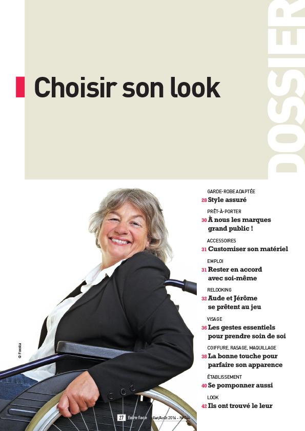 Couverture dossier magazine Faire Face juillet aout 2016 Choisir son look N744