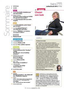 Sommaire magazine Faire Face juillet aout 2016