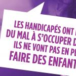 Avec ses quatre nouvelles affiches, l'Adapt veut faire changer le regard sur les personnes handicapées en s'attaquant aux idées reçues qui leur collent à la peau.
