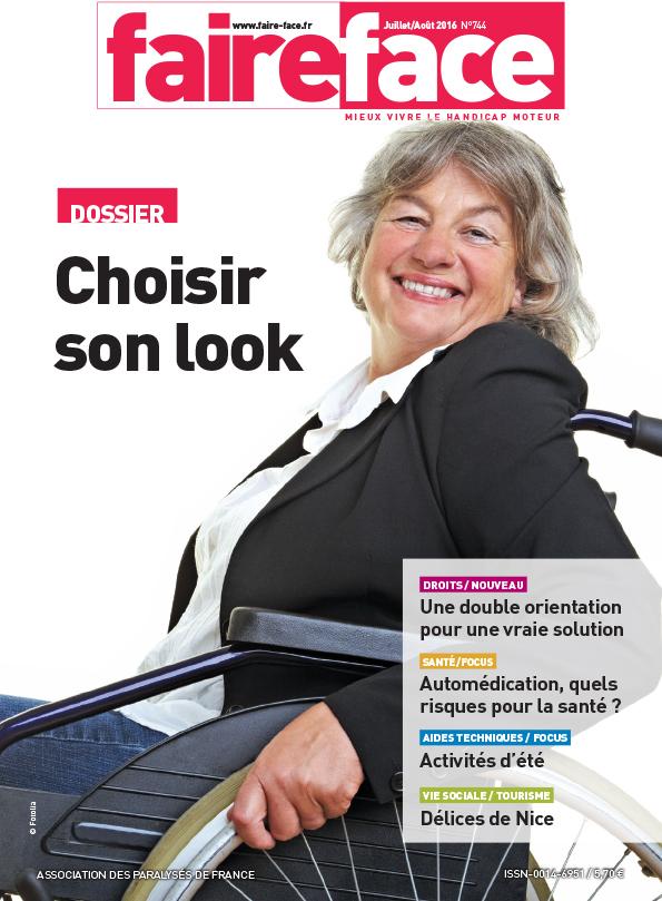 couverture magazine Faire Face juillet aout 2016 Choisir son look N744