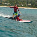 Système de propulsion électrique, le Wavejet permet de pratiquer le surf de manière autonome. © DR