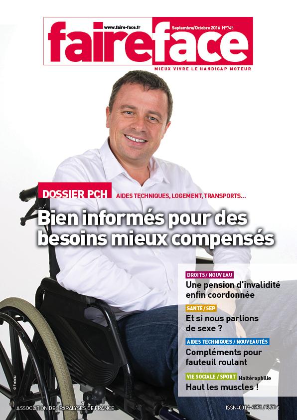 Couverture Magazine Faire Face sept oct 2016 PCH Bien informes pour des besoins mieux compenses