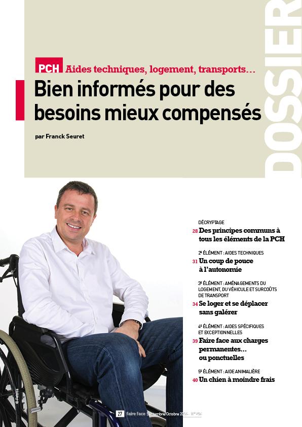 Dossier Couverture Magazine Faire Face sept oct 2016 PCH Bien informes pour des besoins mieux compenses