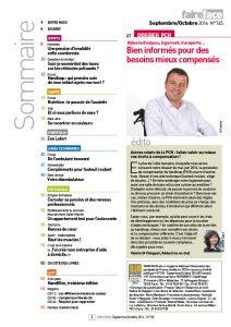 Sommaire Magazine Faire Face sept oct 2016 PCH Bien informes pour des besoins mieux compenses