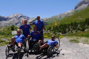 """Le """"Challenge alpestre"""" a été relevé par cinq amis, fédérés par l'association Aventure Handicap."""
