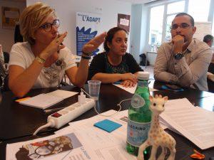 Brainstorming du groupe 2 sur la thématique : comment faire évoluer le cadre réglementaire des missions handicap ?