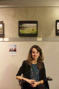 Audrey Barbaud lors du vernissage de l'exposition samedi 14 janvier 2017 © Juliette Le Naire