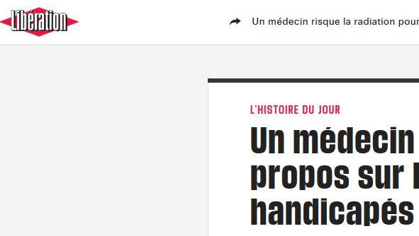 Apologie de l 39 extermination des handicap s un m decin - Chambre disciplinaire nationale de l ordre des medecins ...